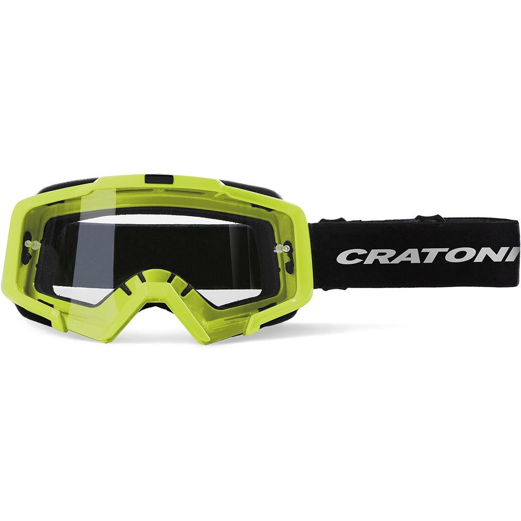 CRATONI C-Dirttrack Goggle - lime matt / clear