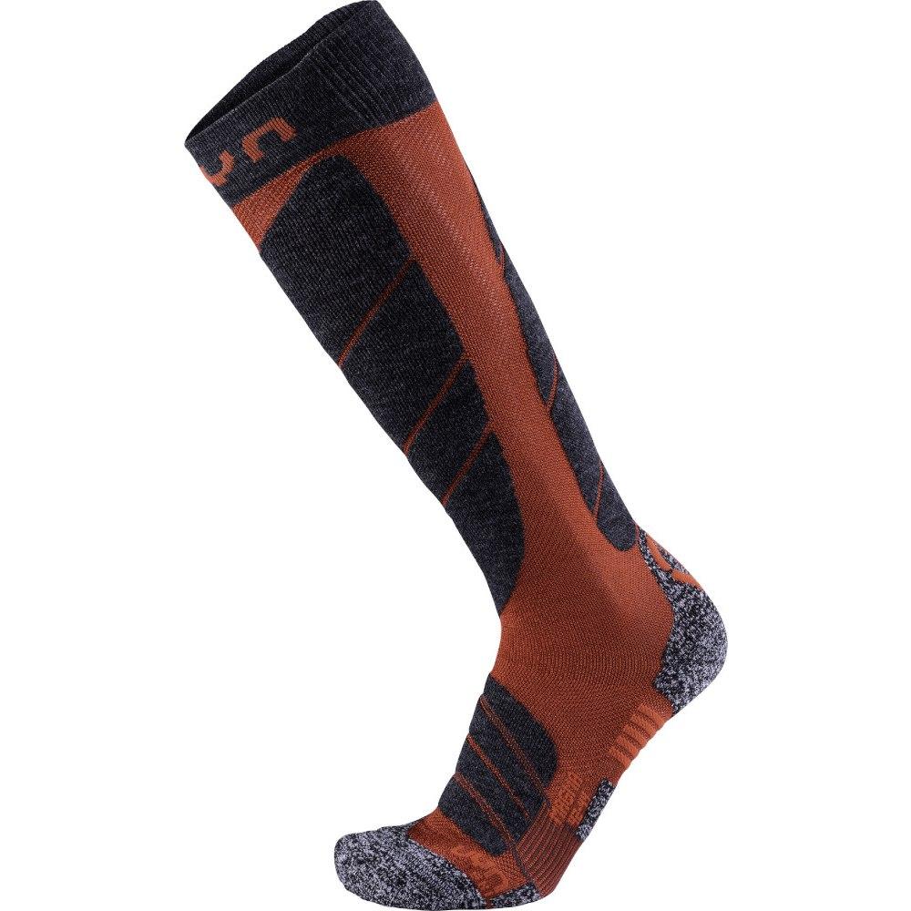 UYN Ski Magma Socken - Dark Red/Anthracite