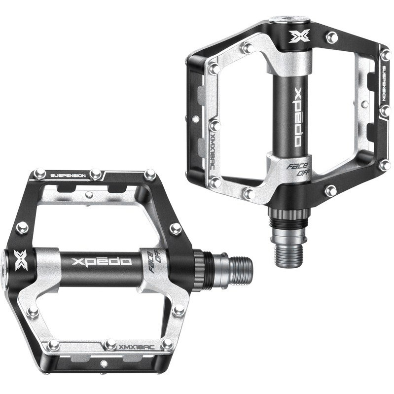 Xpedo Faceoff 18 Flat Pedal - schwarz/silber