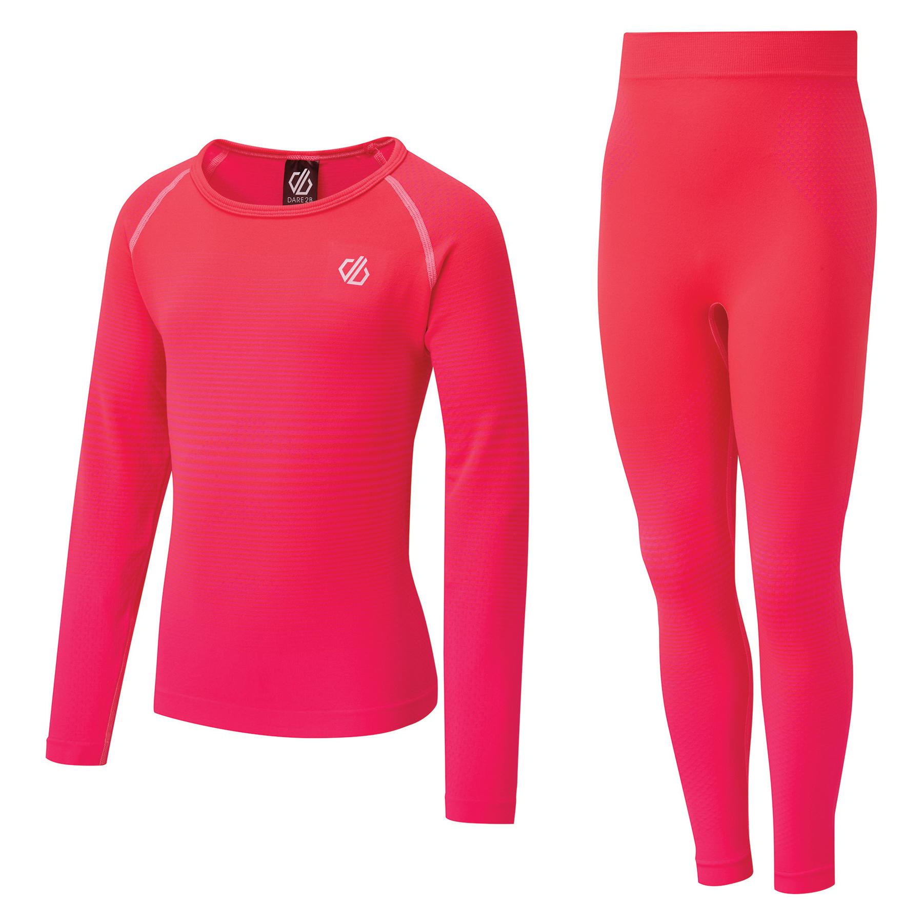 Dare 2b In The Zone Base Layer Underwear Set Kids - L58 Neon Pink Gradient