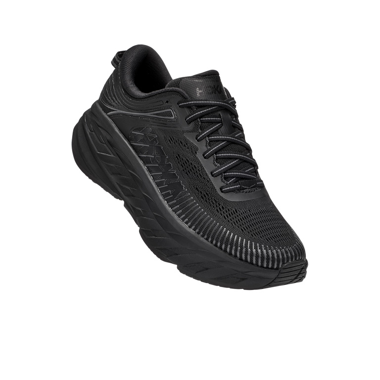 Image of Hoka One One Bondi 7 Women's Running Shoes - black / black
