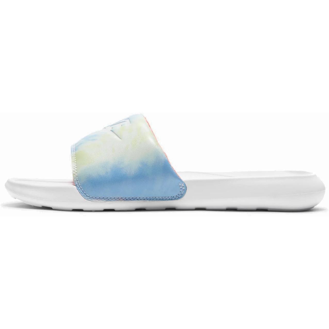 Produktbild von Nike Victori One Printed Damen Badeschuhe - White/White-Bright Mango-Sapphire CN9676-101