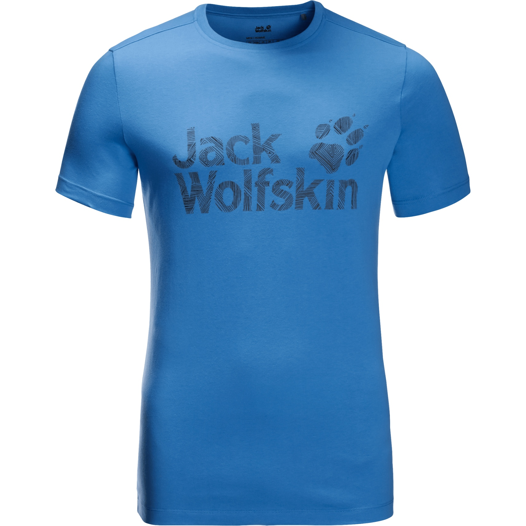 Jack Wolfskin Brand Logo T-Shirt - wave blue