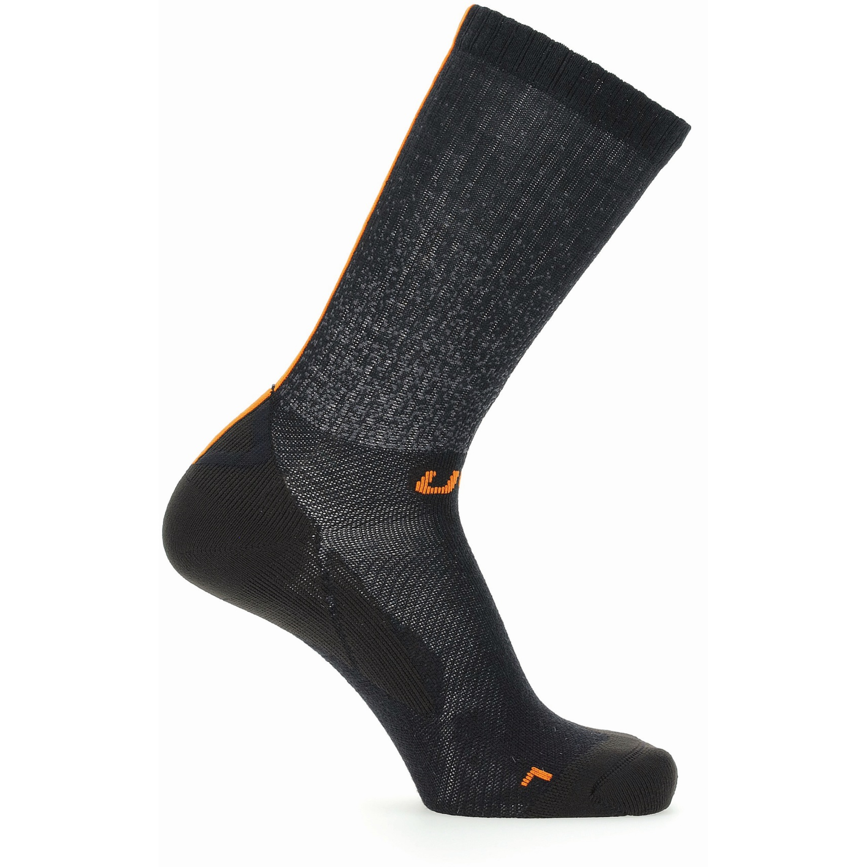 Image of UYN Cycling Aero Winter Socks - Black/Orange