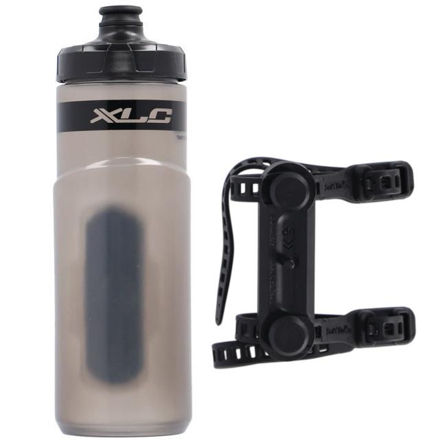 XLC Fidlock Trinkflasche mit Uni Base Connector - transparent