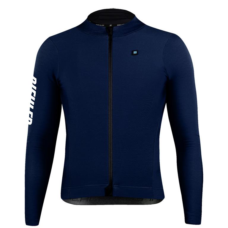 Biehler Thermal Rain Long-Sleeve Jersey - Night Blue