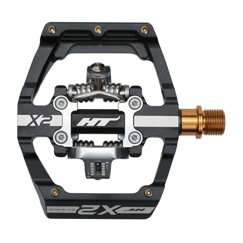 Produktbild von HT X2T Klickpedal Aluminium / Titan - schwarz