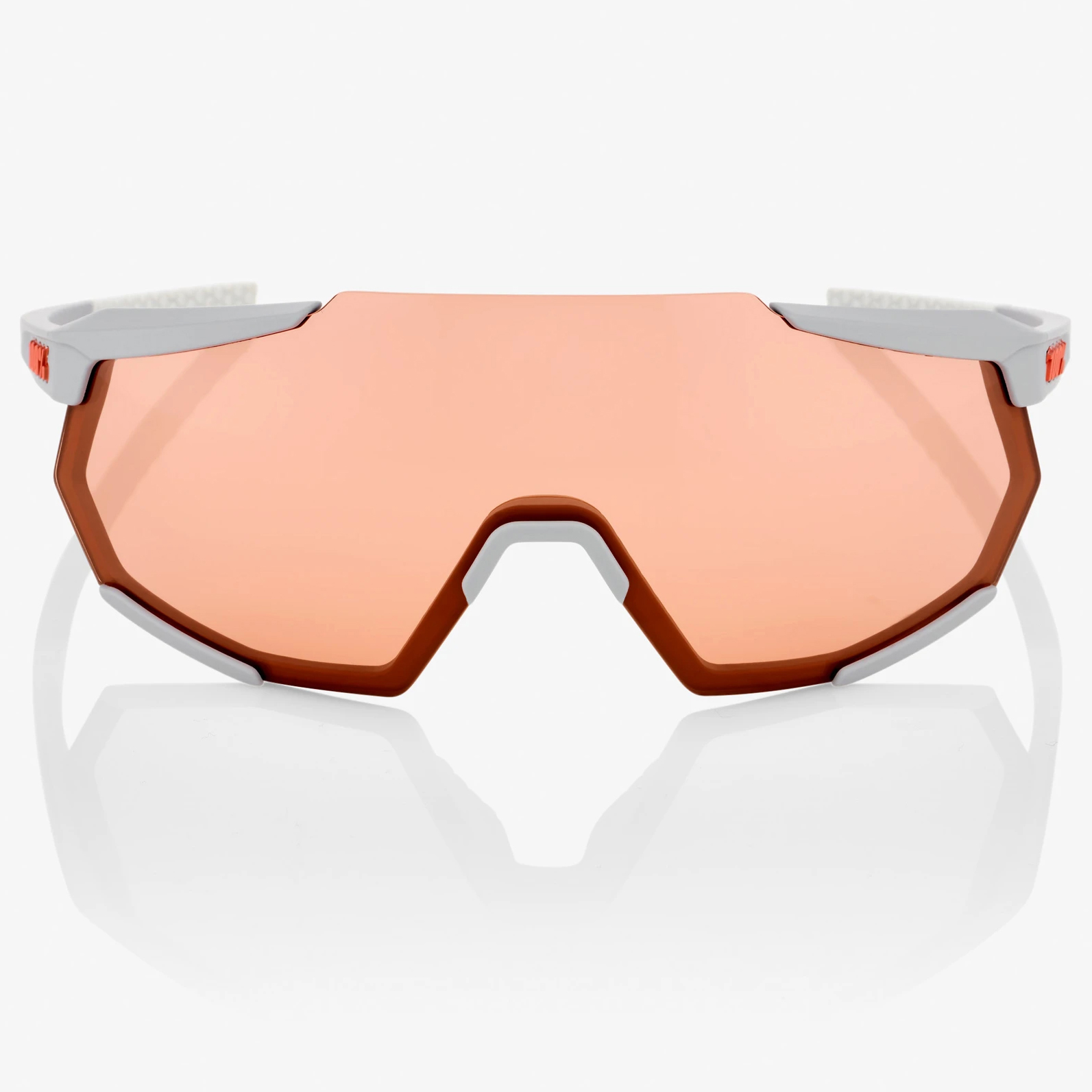Imagen de 100% Racetrap HiPER Mirror Glasses - Soft Tact Stone Grey/Coral + Clear