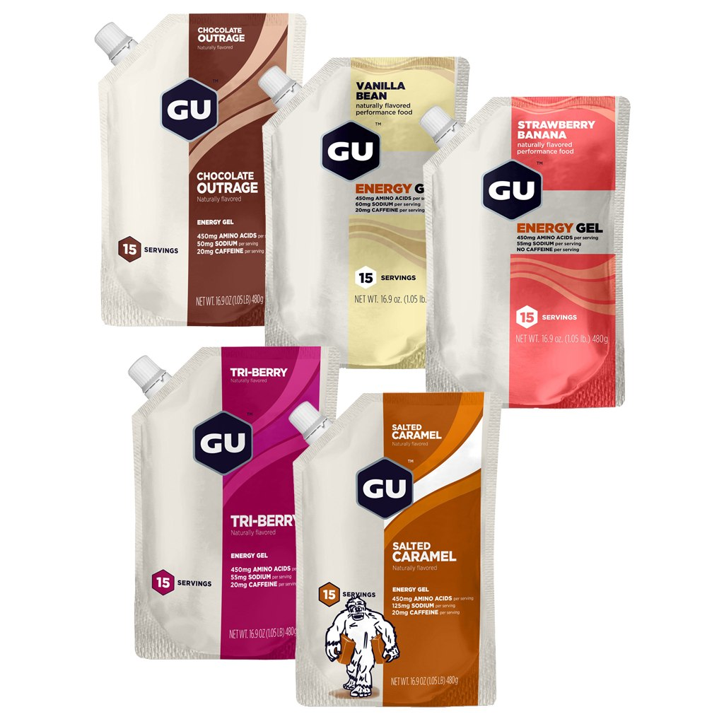 GU Energy Gel 15 Serving with Carbohydrates - 480g