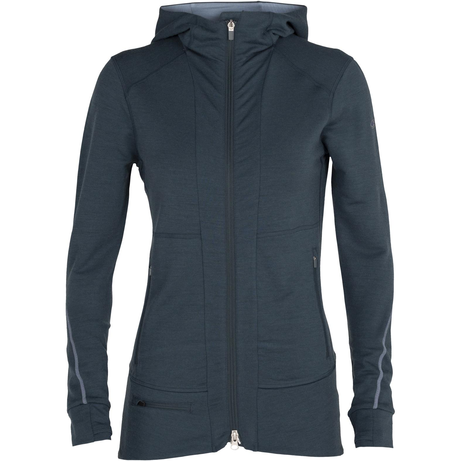 Produktbild von Icebreaker Quantum II Zip Hood Damen Kapuzenjacke - Serene Blue