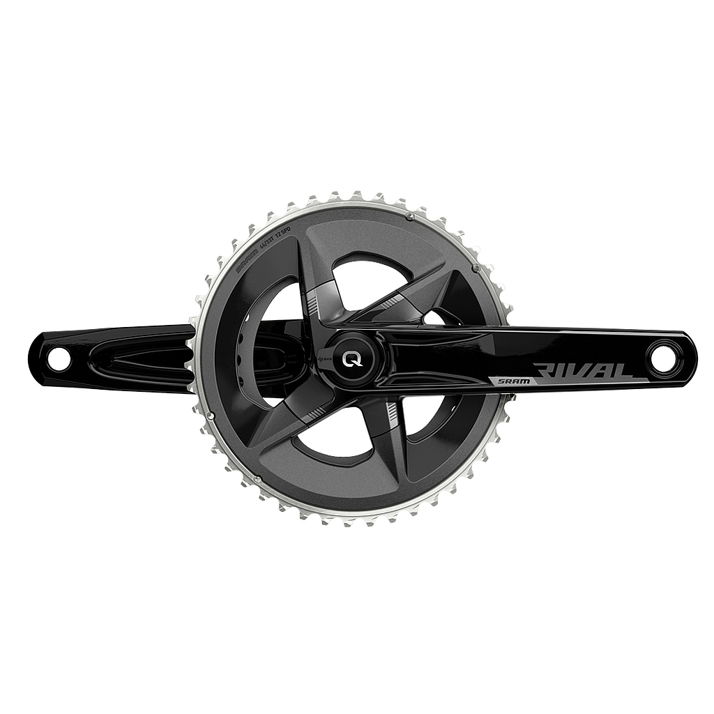 SRAM Rival AXS Powermeter Crank D1 - DUB - 2x12-speed - 48/35 Teeth - black