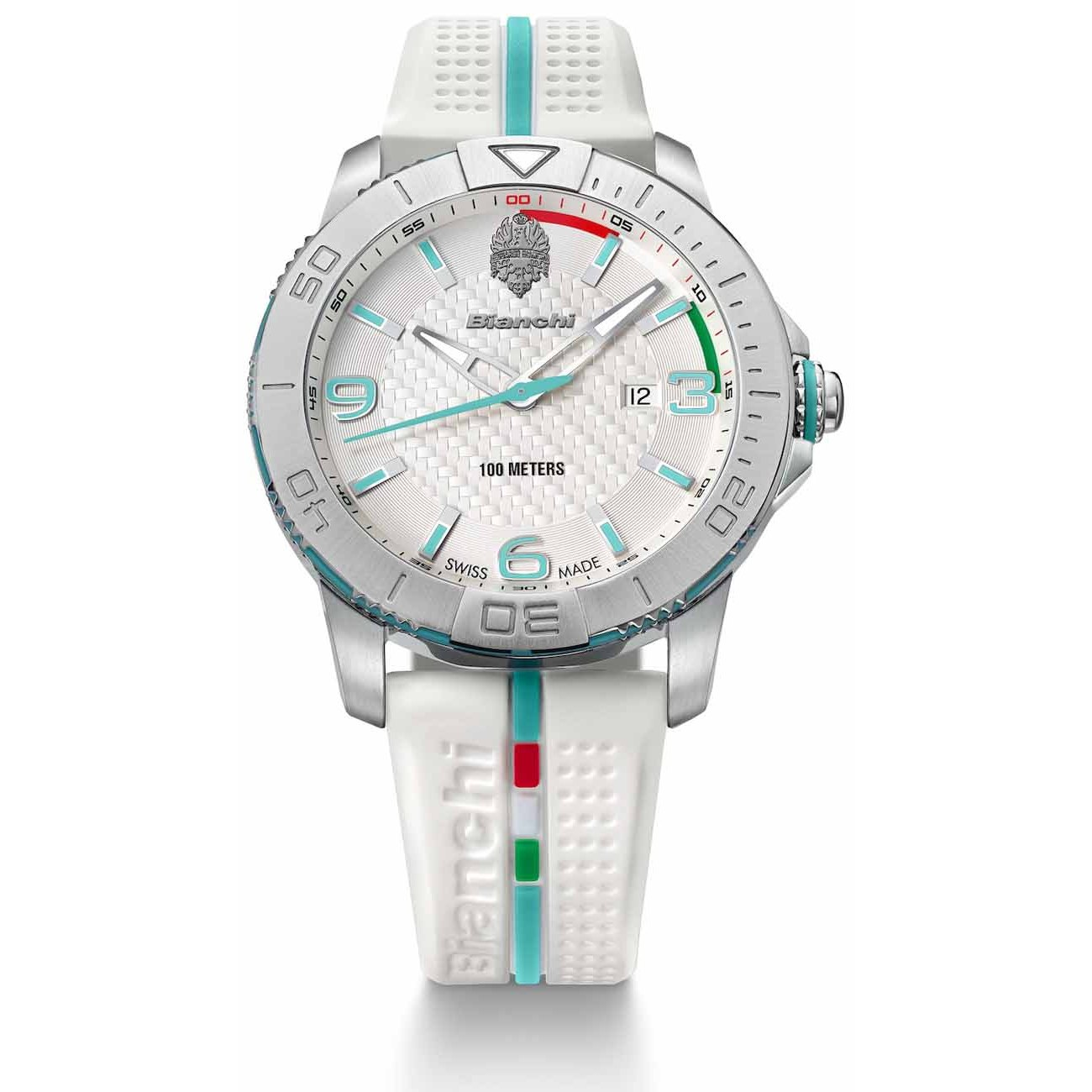 Image of Bianchi Three Hands Wrist Watch - White