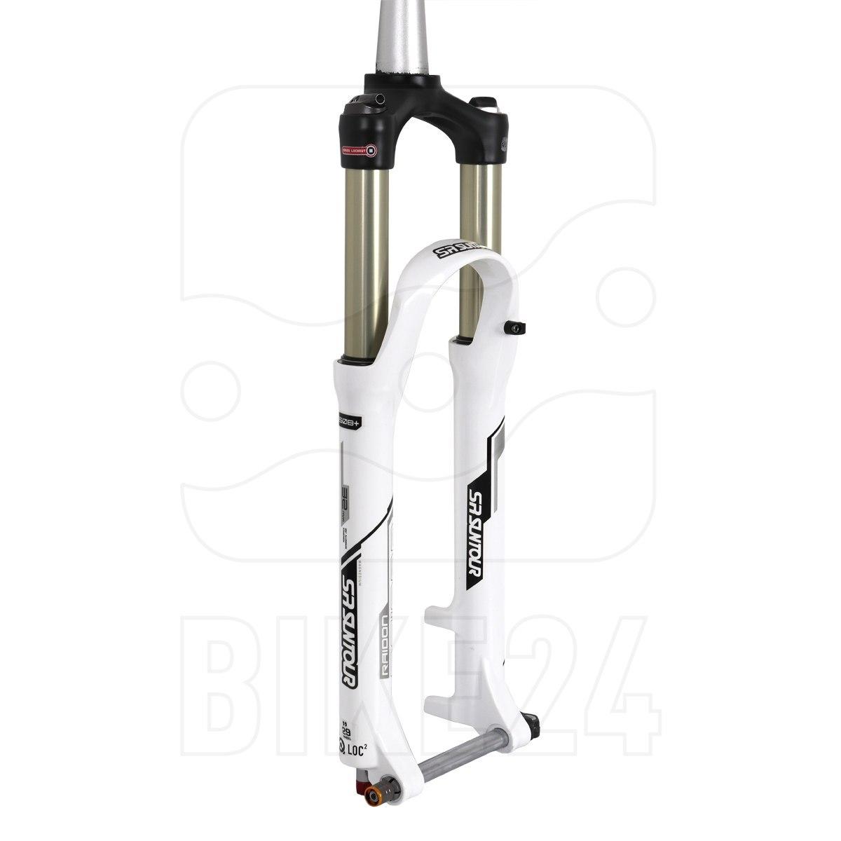 "SR Suntour RAIDON-XC RLR DS 29"" Fork - 100mm - Tapered - 15x100mm - white"