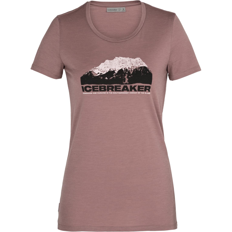 Produktbild von Icebreaker Tech Low Lite Crewe IB Mountain Damen T-Shirt - Suede