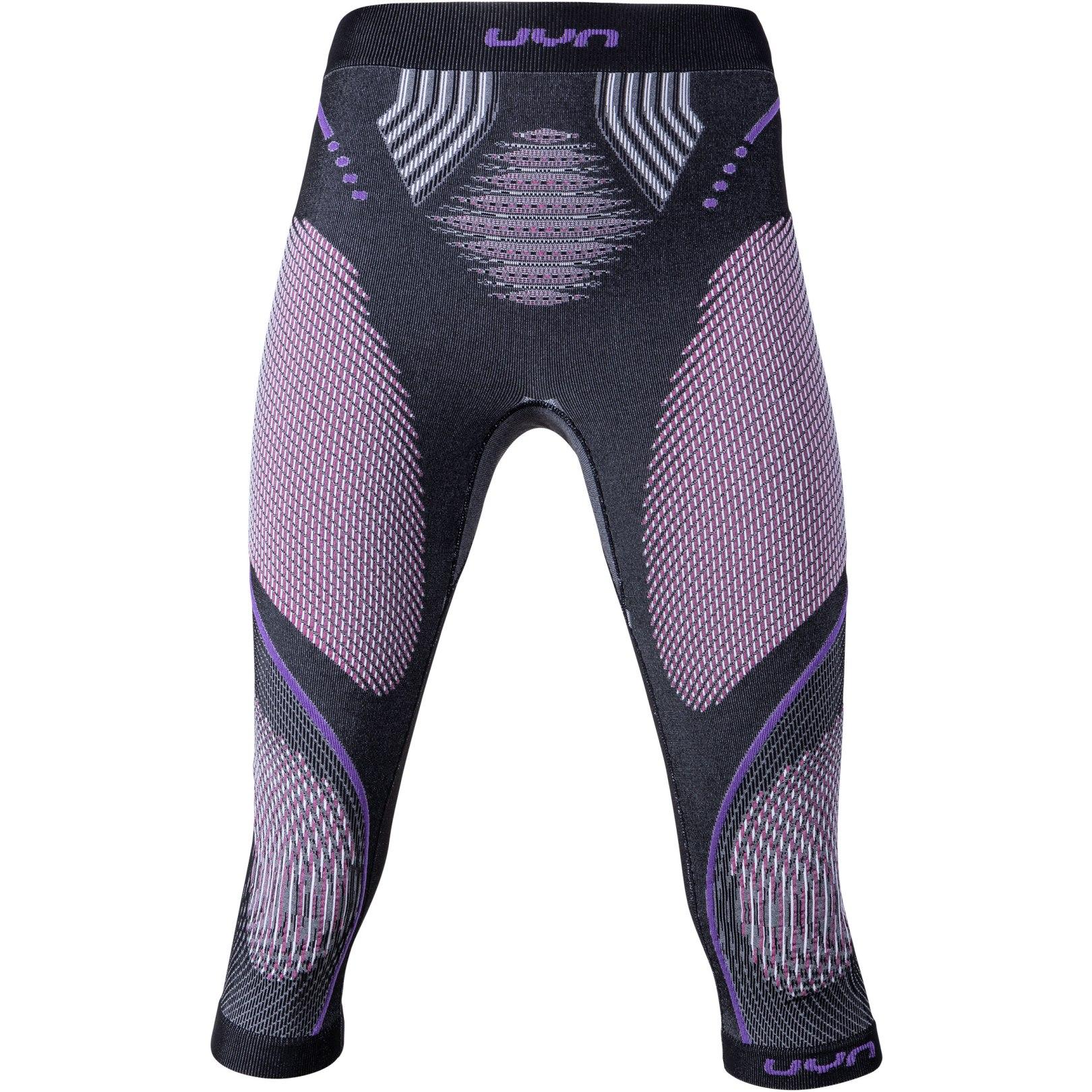 UYN Evolutyon Melange Underwear Pants Medium Women - Anthracite Melange/Raspberry/Purple