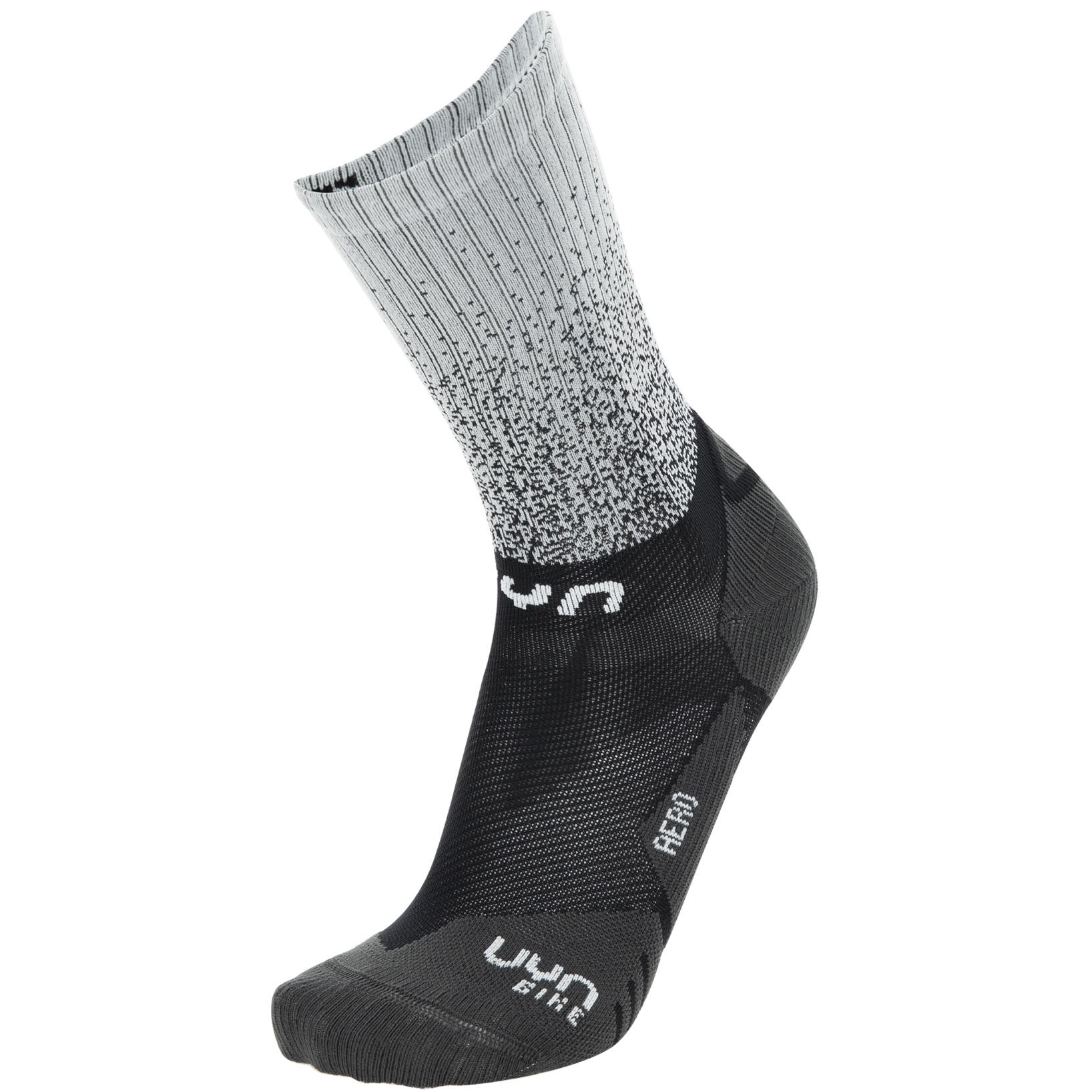 UYN Cycling Aero Socken - Schwarz/Weiß