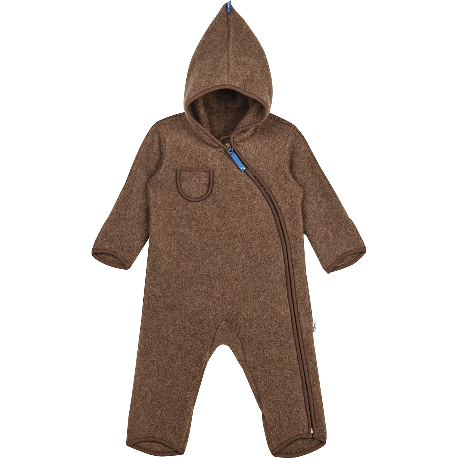 Finkid PUKU WOOL Kids Wool Fleece Overall - cocoa