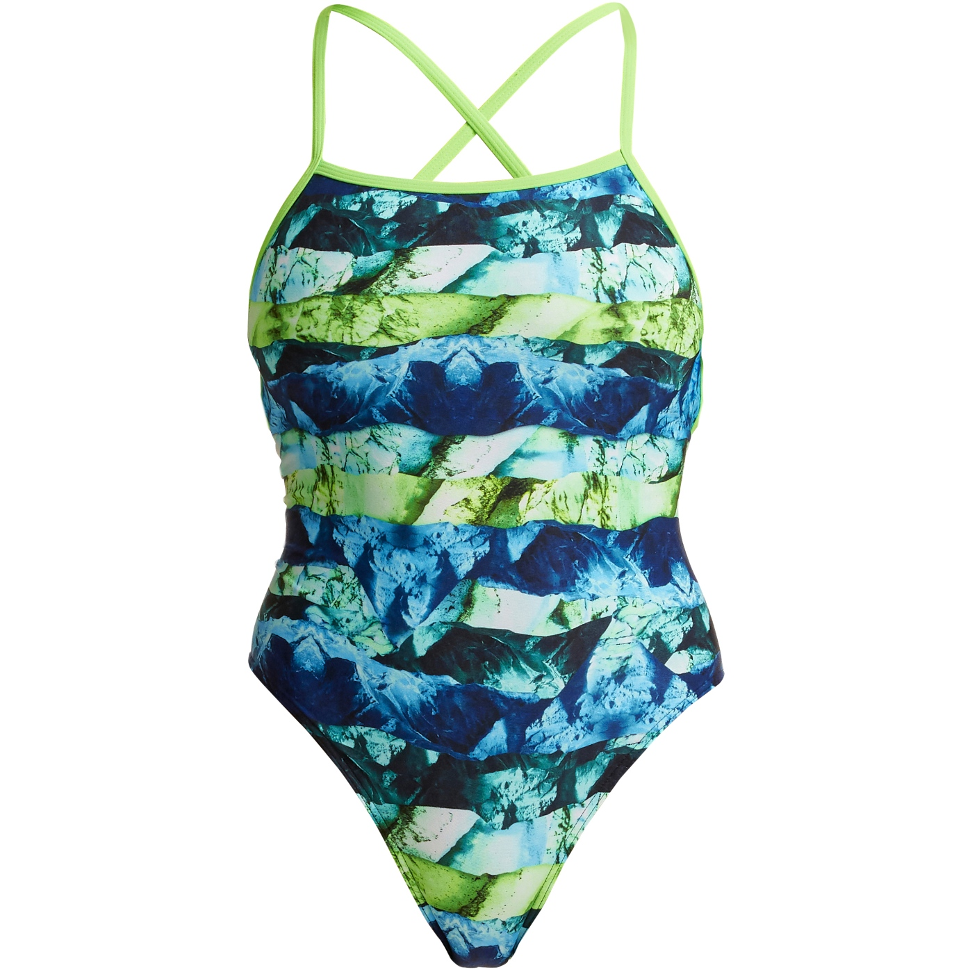 Funkita Ladies Strapped In One Piece Swimsuit - Icy Iceland