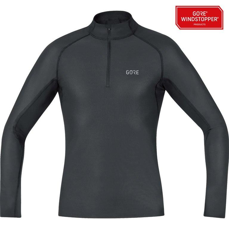 Foto de GORE Wear M GORE® WINDSTOPPER® Base Layer Thermo Camiseta cuello - black 9900