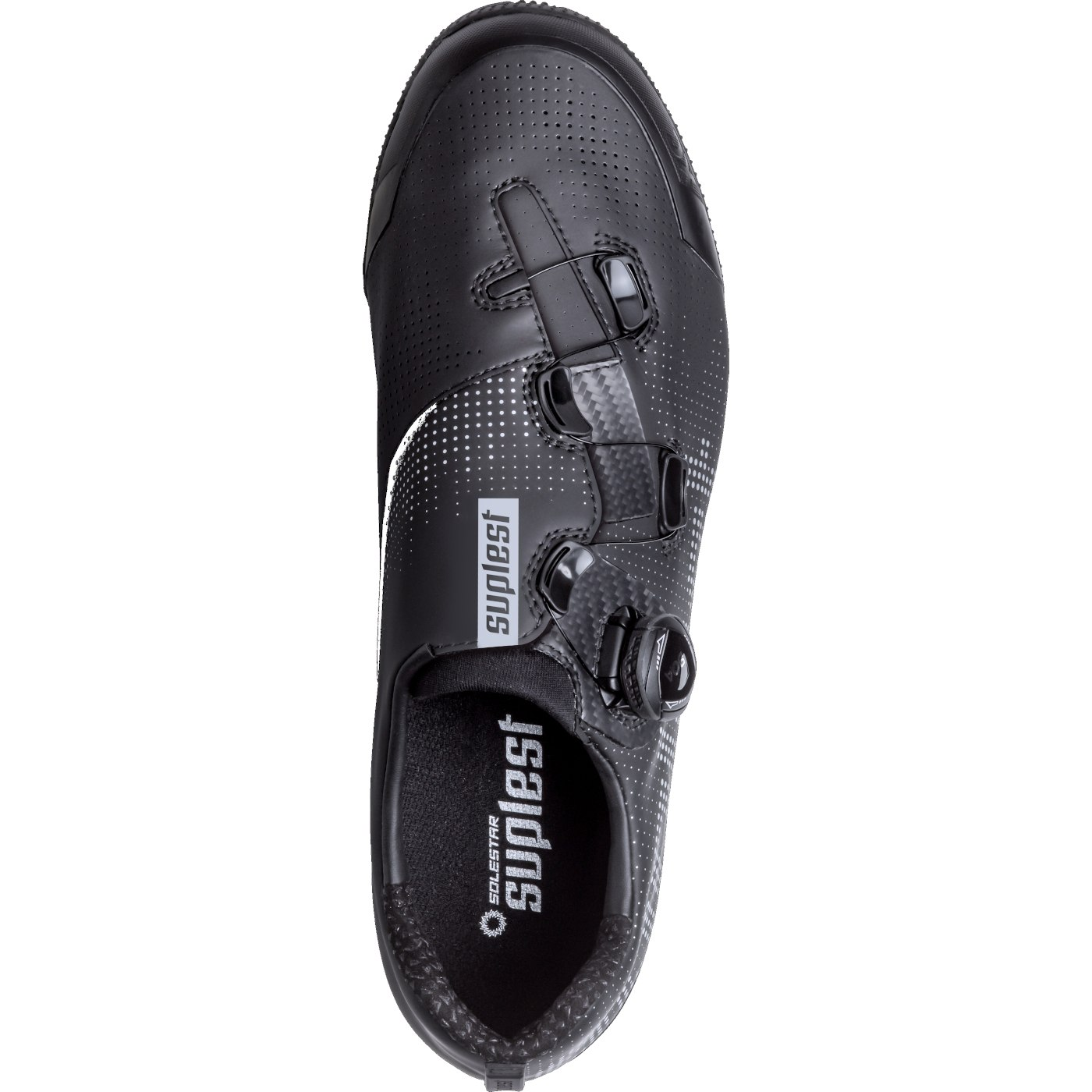 Image of Suplest EDGE+ BOA IP1 Crosscountry Performance Shoe - Black / Silver 02.041.