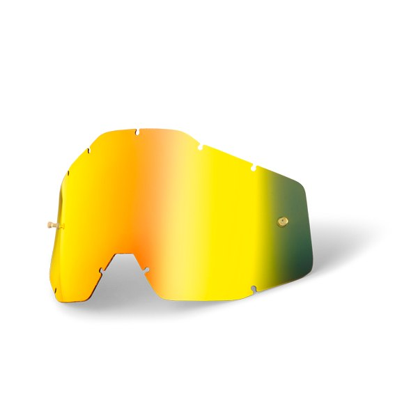 100% Youth Goggle Anti Fog Mirrored Lente de repuesto - Gold Mirror