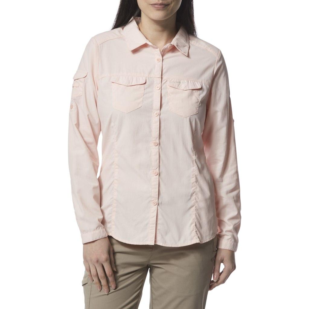 Image of Craghoppers NosiLife Adventure II Women's Long-Sleeved Shirt - Sea Salt