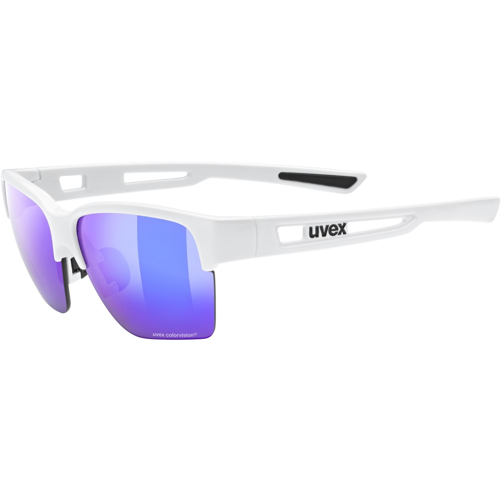 Uvex sportstyle 805 CV Glasses - white/colorvision mirror plasma