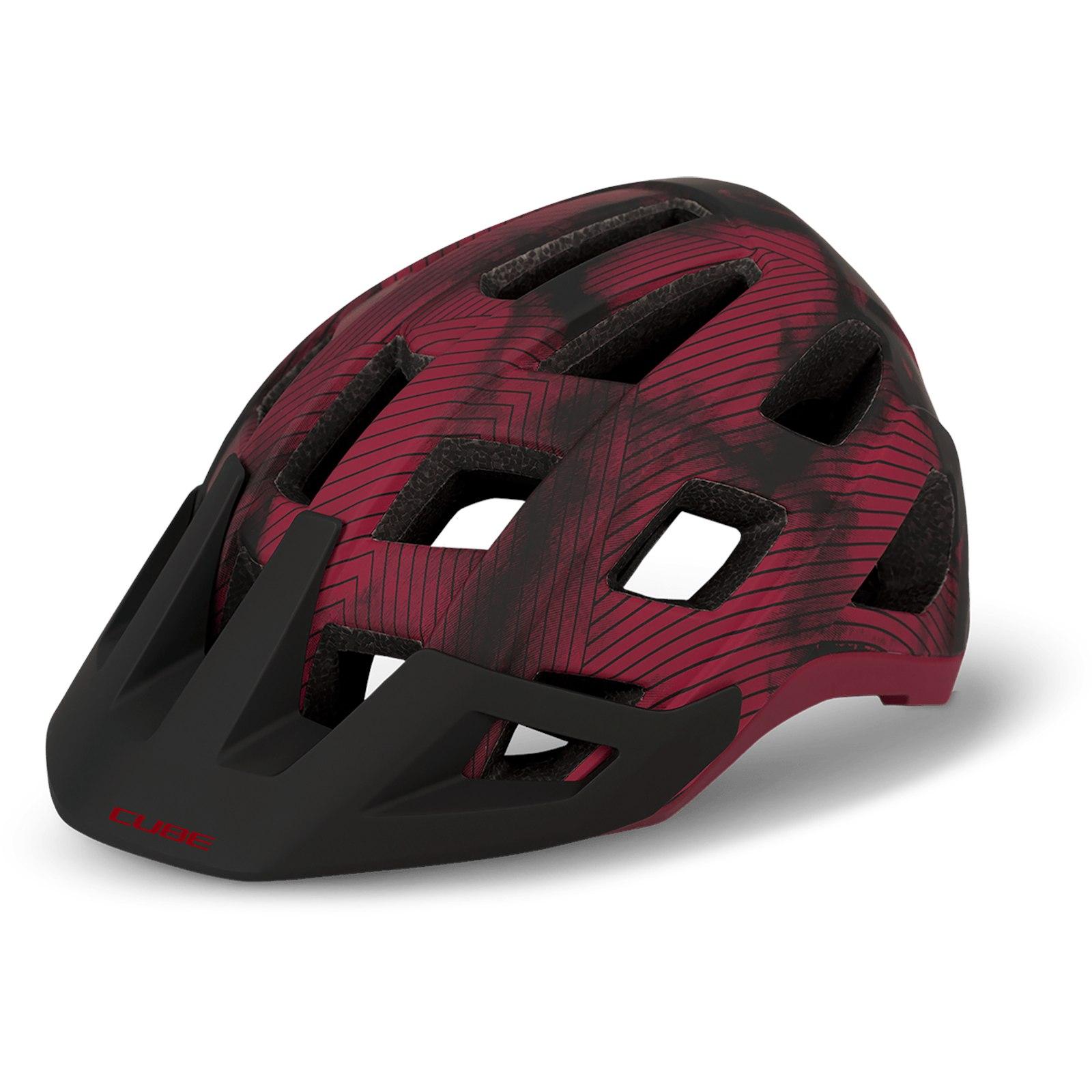 CUBE Helmet BADGER - red