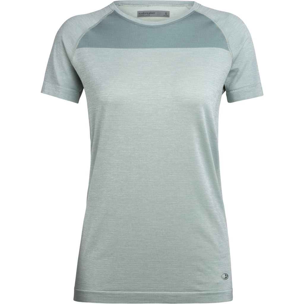 Icebreaker Motion Seamless Crewe Damen T-Shirt - Shale HTHR