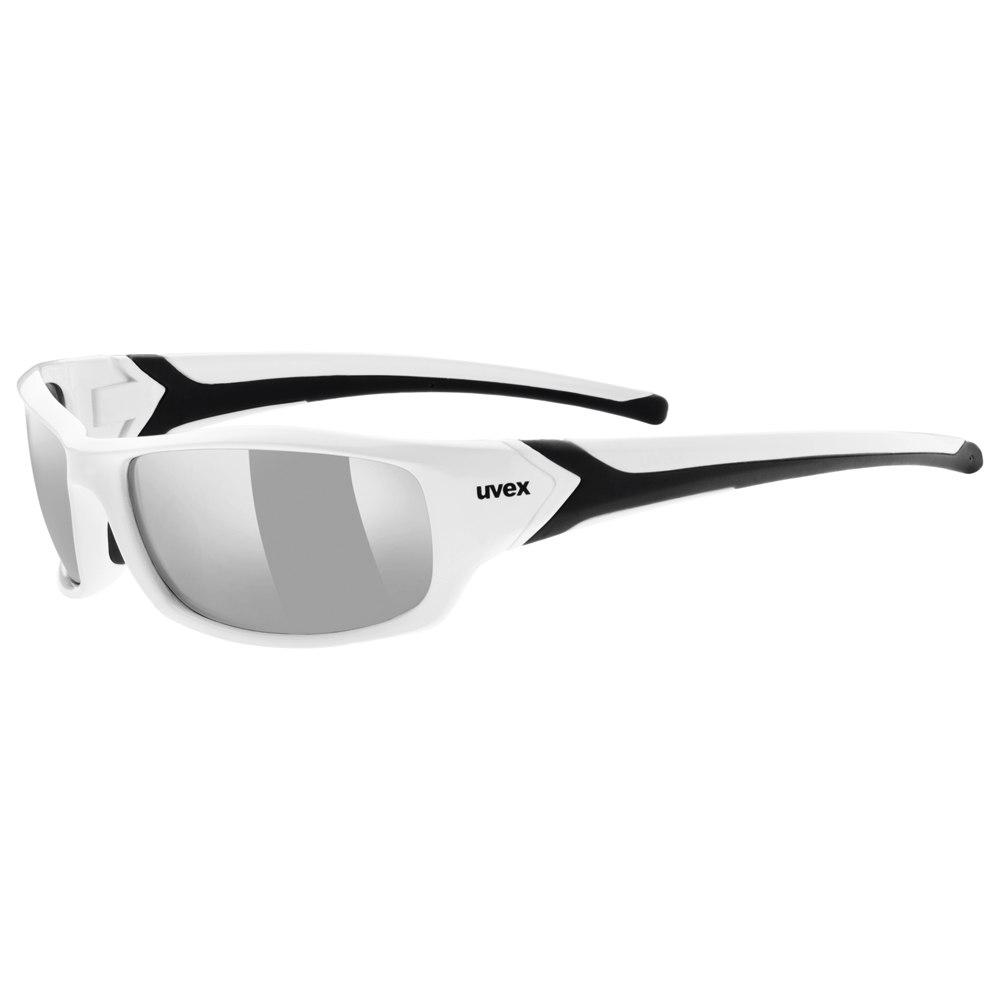 Uvex sportstyle 211 Glasses - white black/litemirror silver