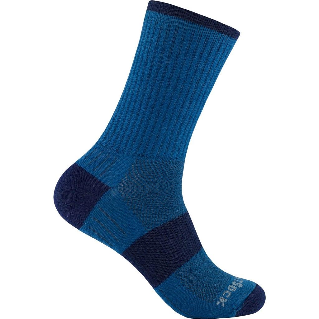 WRIGHTSOCK Escape Crew Double Layer Socks - azure blue - 956-77