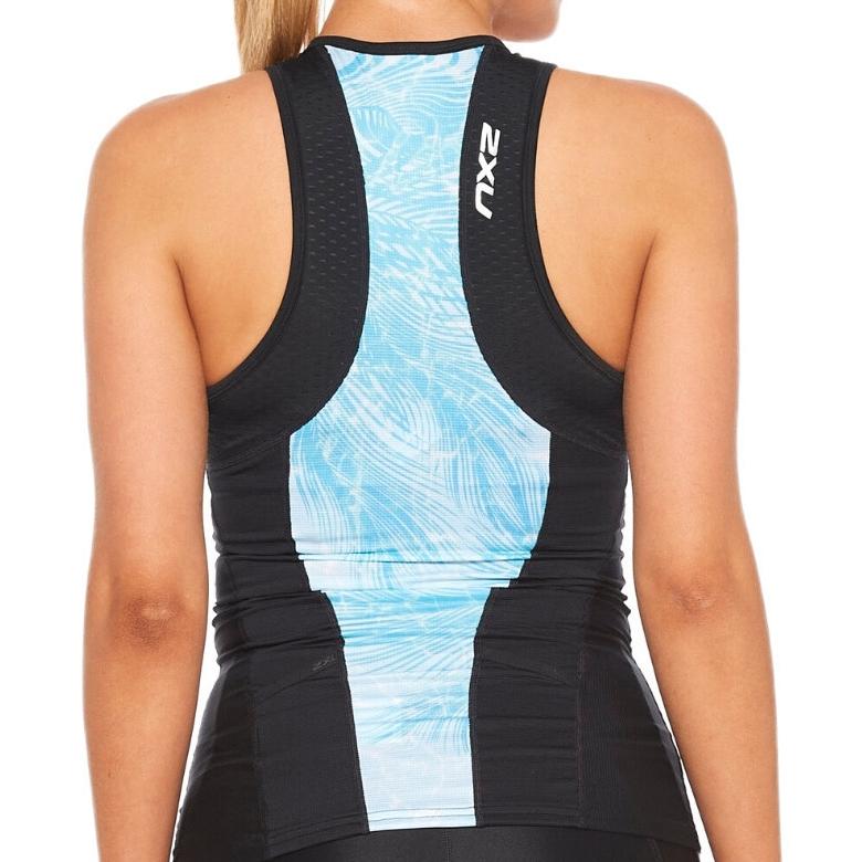 Imagen de 2XU Women's Perform Tri Camiseta de tirantes para mujer - black/aqua mirage