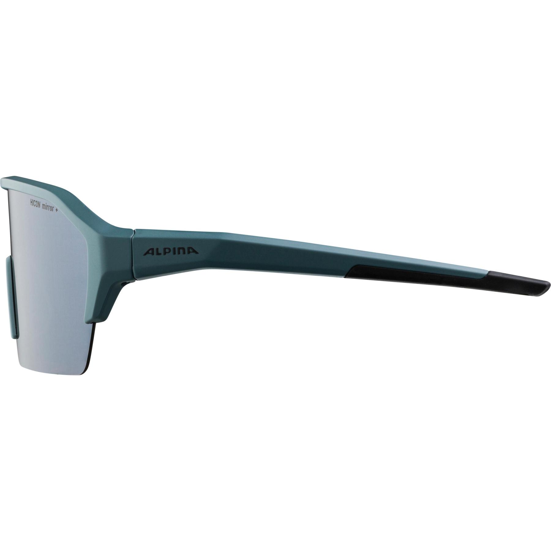 Image of Alpina Ram HR HM+ Glasses - dirtblue matt / Hicon silver mirror