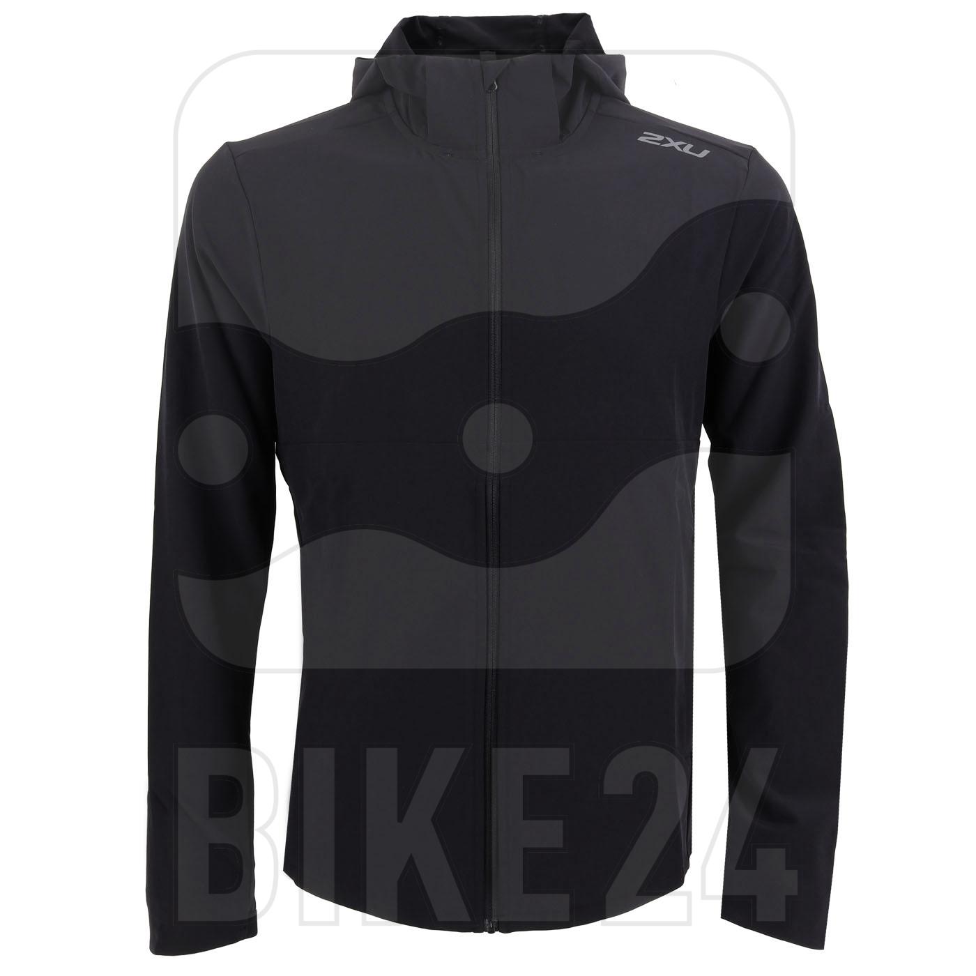 2XU XVENT DWR Chaqueta de correr - black/silver reflective