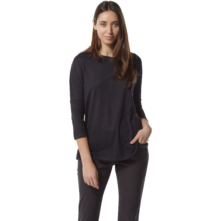 Image of Craghoppers NosiLife Shelby Women's Long-Sleeved Top - midnight blue
