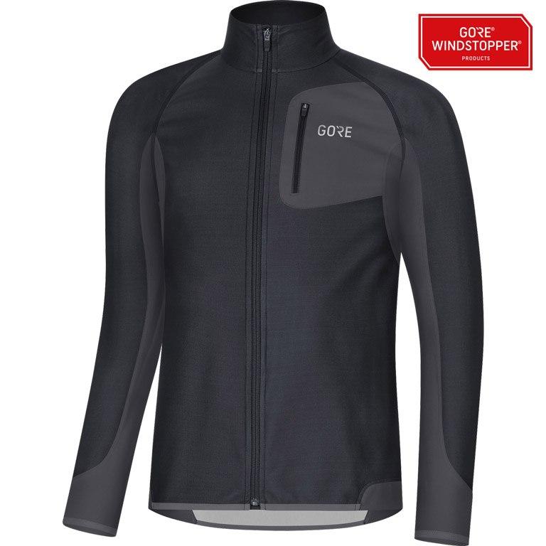 Foto de GORE Wear R3 Partial GORE® WINDSTOPPER® Camiseta - black/terra grey 990R