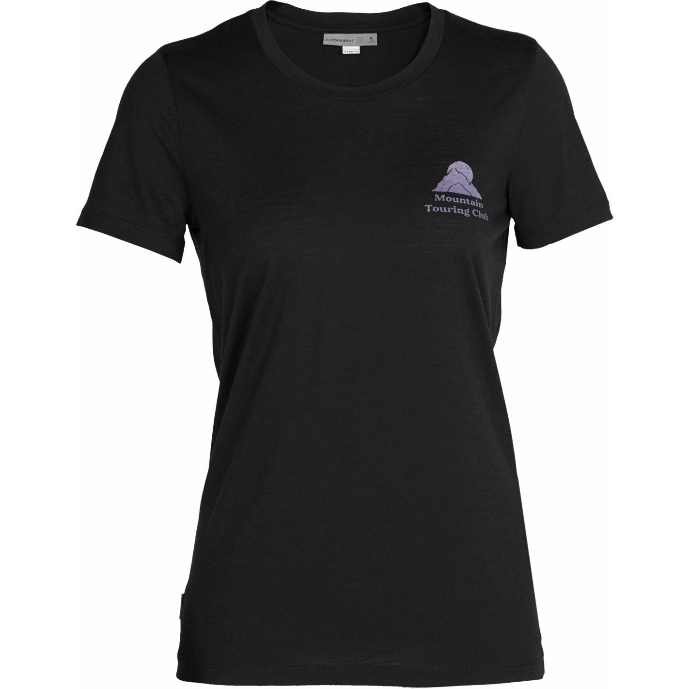 Produktbild von Icebreaker Tech Lite II Touring Club Damen T-Shirt - Black