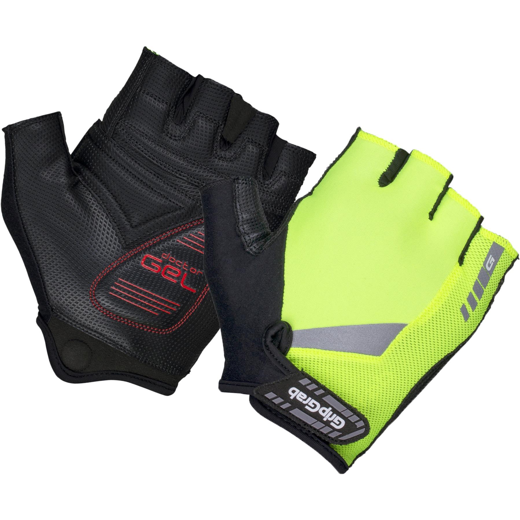 GripGrab ProGel Hi-Vis Padded Short Finger Glove - Yellow Hi-Vis