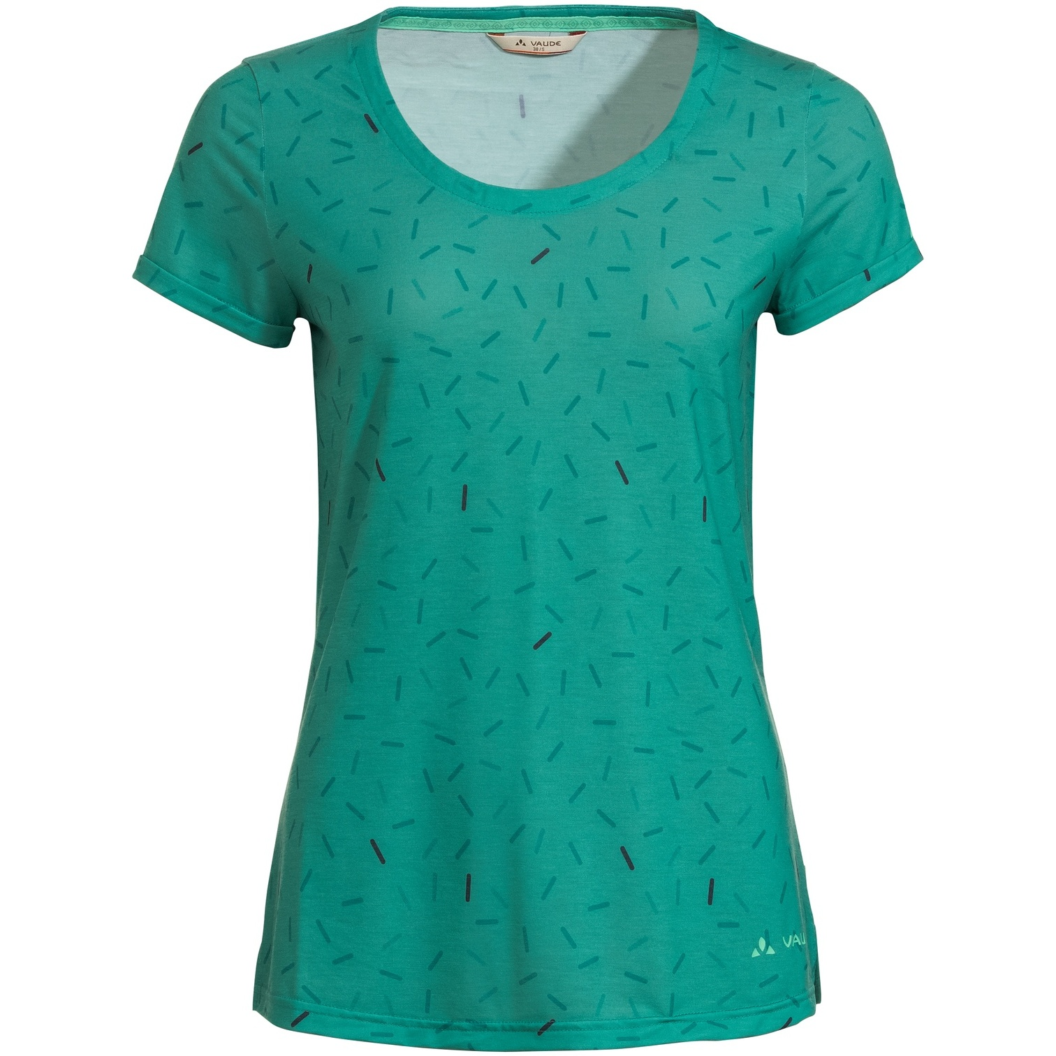 Vaude Skomer All Over Print T-Shirt Damen - peacock