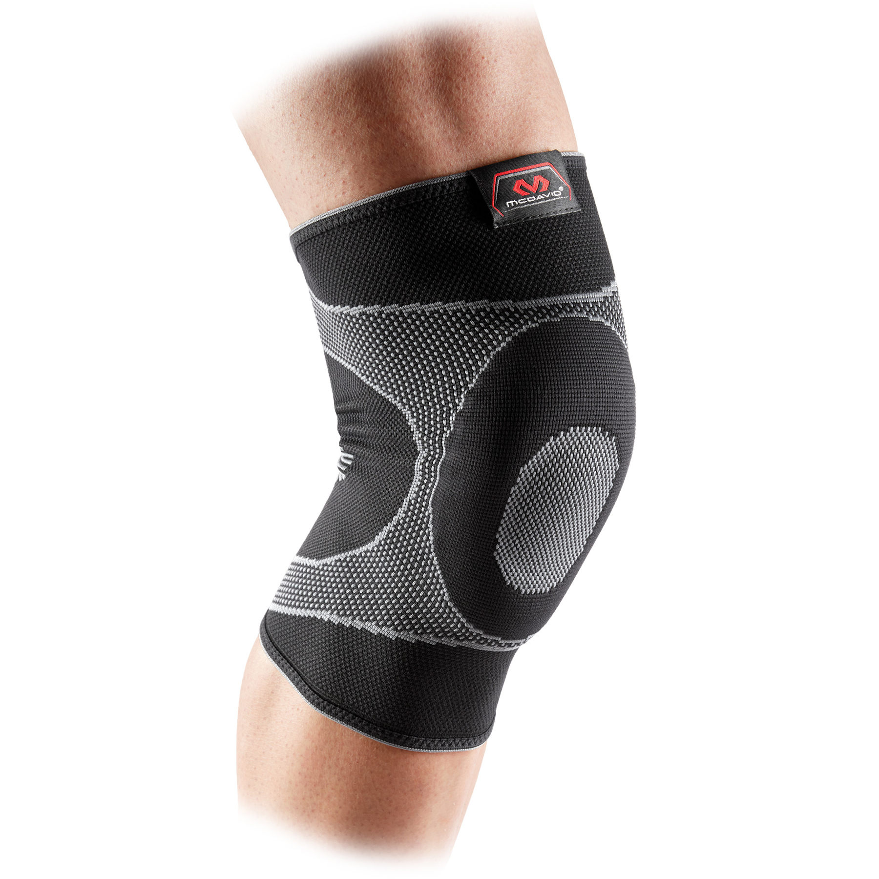 Produktbild von McDavid Elastische Kniebandage mit Gelkissen - Schwarz