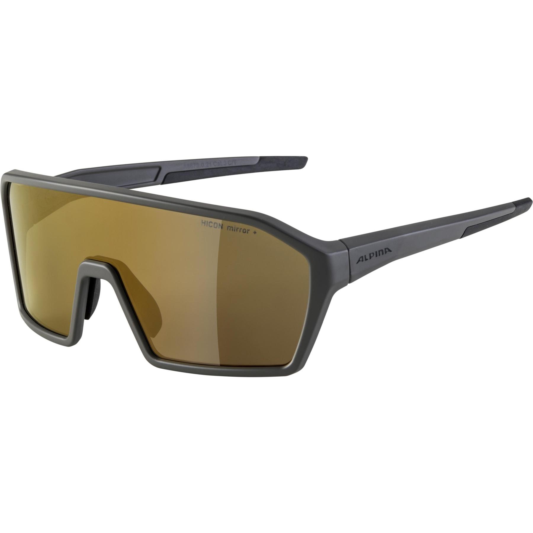 Alpina Ram HM+ Glasses - coffeegrey matt / Hicon gold mirror