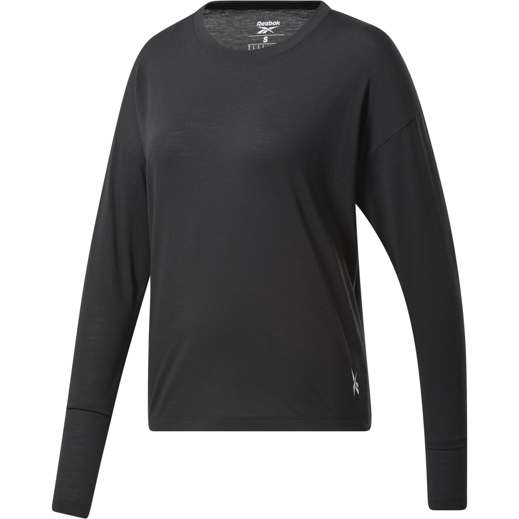 Reebok Workout Ready Supremium Women's Long Sleeve Shirt - night black