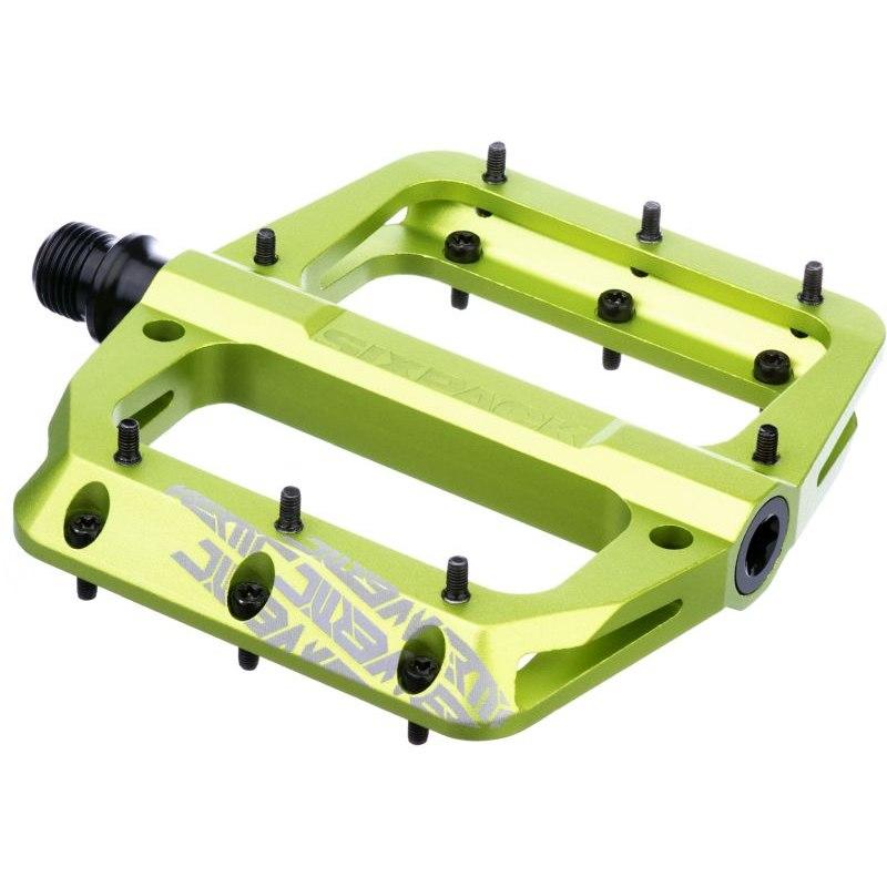 Sixpack Vertic 3.0 Aluminium Flat Pedal - electric green
