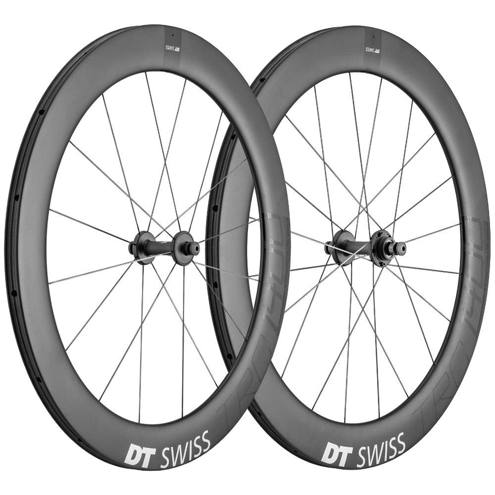 Foto de DT Swiss TRC 1400 DICUT 65 T - Carbon - Track Wheelset - Tubular - FW: 100mm   RW: 120mm BO