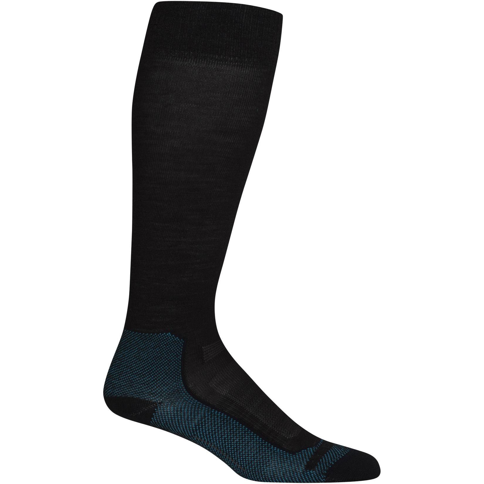 Icebreaker Ski+ Ultralight OTC Damen Socken - Jet Hthr/Artic Teal/Black
