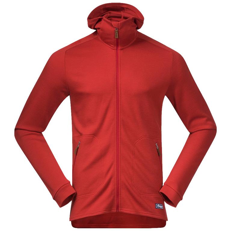 Bergans Tuva Light Wool Hood Jacket - red sand