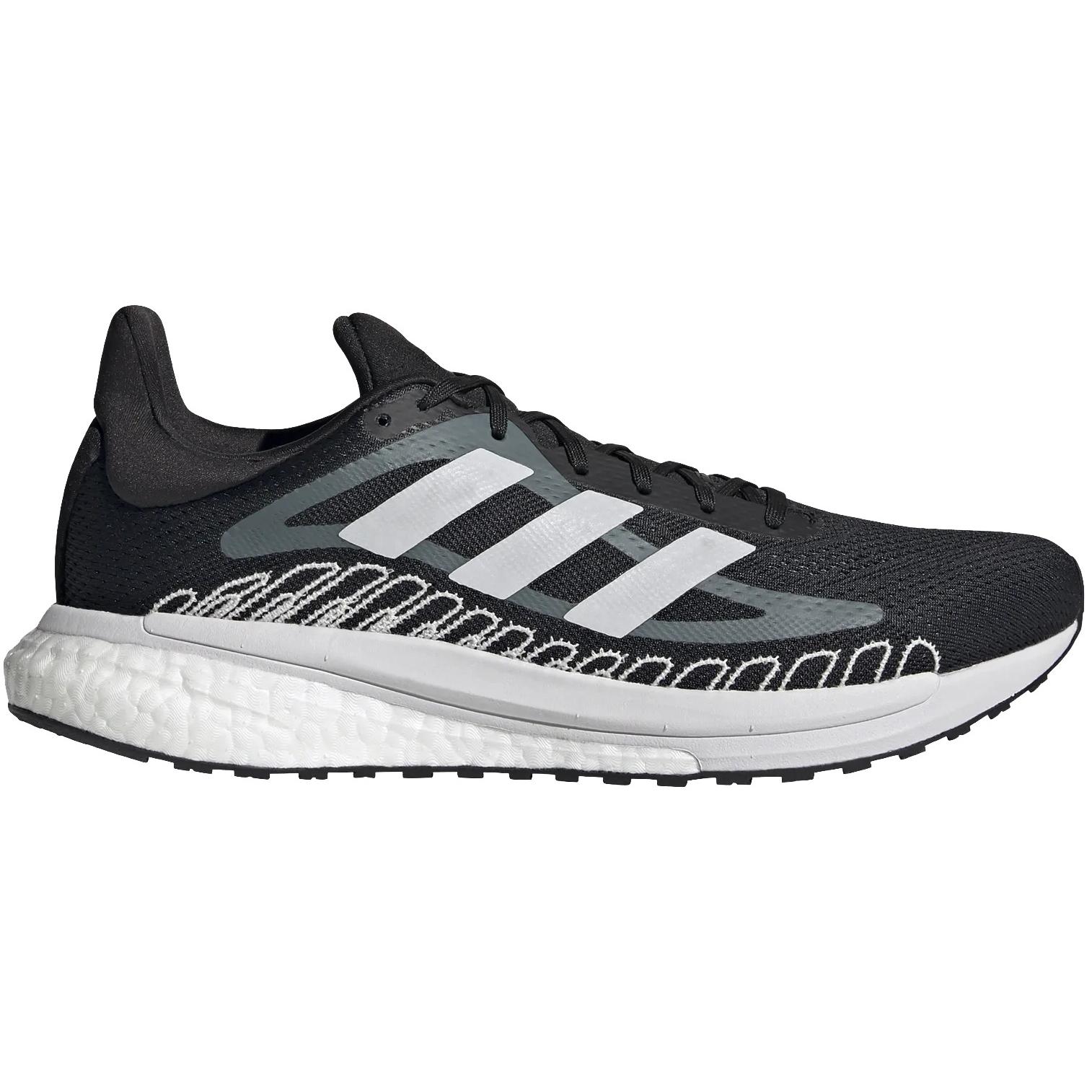 adidas Männer SolarGlide ST Laufschuhe - core black/cloud white/blue oxide FW1005
