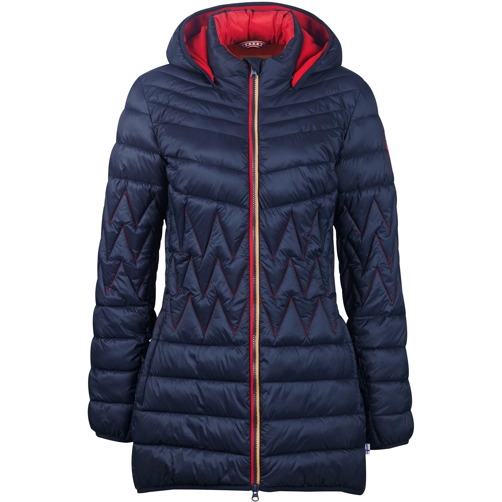 Finside LAHTI Zip in Inner Jacket - Women Quilted Coat - navy