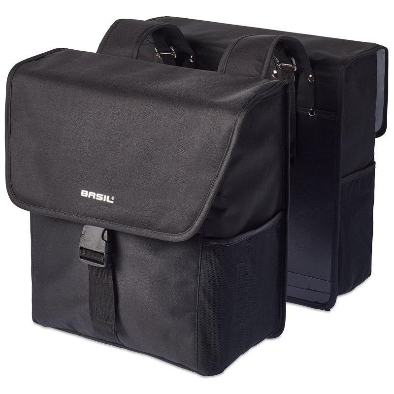 Basil GO-Double Bag Pannier Bag - black