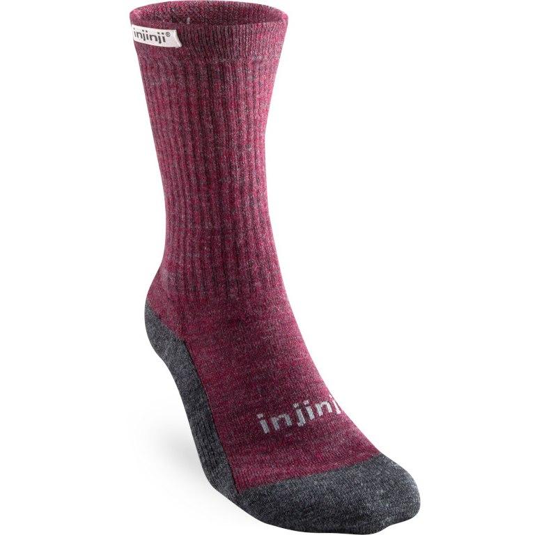Injinji Women's Hiker Crew NuWool Socks - maroon